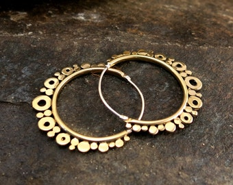 Venus Small Brass Earrings