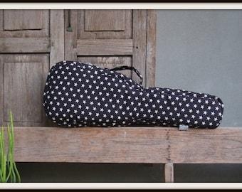 Concert ukulele case - Rock Star- Black and white star ukulele bag (Ready to ship)