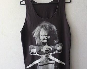 Chucky Doll Horror Movie Film Pop Rock Tank Top M