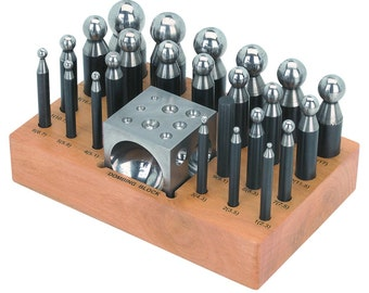 Doming Block and Punch 25 Piece Set