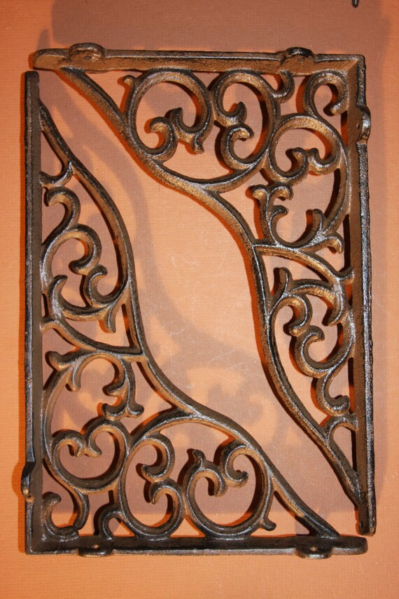 6 Wave Cast Iron Shelf Brackets, Corbels, Shelf Bracket