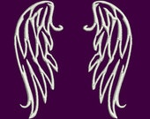 angel wings *one file per wing* machine embroidery design Instant Download