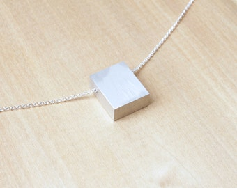 Aluminum Necklace Contemporary Necklace Minimalist Necklace Clarity Series II