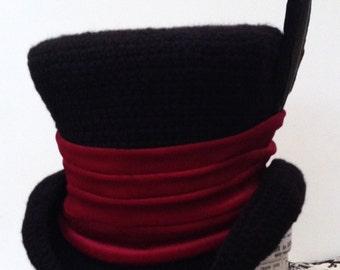 Gothic steampunk mad hatter Raven top hat