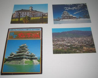 Vintage Post Cards from Japan with Envelope.