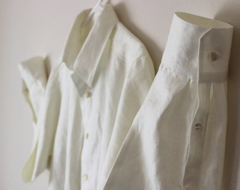 Ivory Mens Linen Shirt Custom and Handmade for You