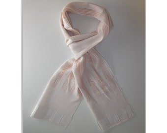 Men's Ultra-light weight Scarf, One Of A Kind Japanese Silk, Ivory