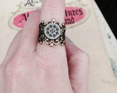 The Fairy Queen's Mark, Emblem Fairy Tale Book Geek Girl Ring