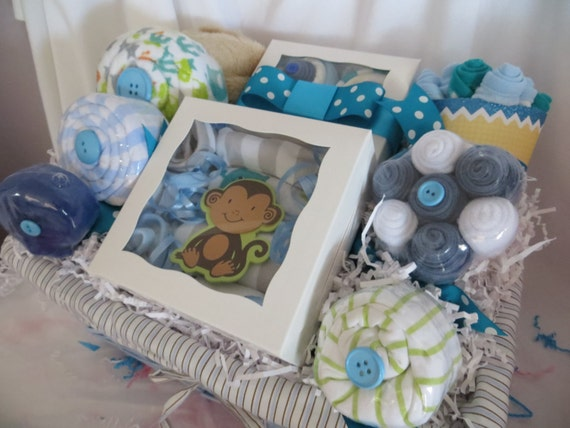 Baby Gift Basket Babies R Us : Deluxe bath and bedtime baby gift basket for boy