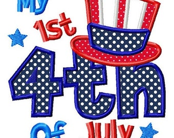 My First 4th of July - Appliqued and Personalized
