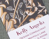 Floral Pattern Calling Card, personalized business card, set of 50