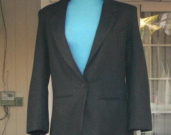 dumas black wool jacket  union label size 10