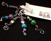 Set of Five Multi-color Ornament Hooks