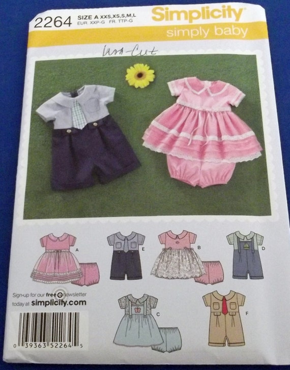 Baby boy s romper and baby girl s dress and by pitapatpatterns