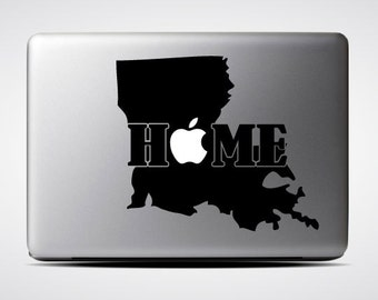 Louisanna State Home / Macbook Sticker / Laptop Decal