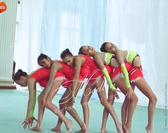 Rhythmic Gymnastics Leotard #88 for Competition | Order as Ice Figure Skating Dress, Acrobatic Gymnastics Costume or Baton Twirling Leotard