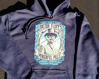 Phish inspired Fluffhead hoodie - Trey, Page Side, Grateful Dead and Company, LSD, hippie, 420, powerful pills