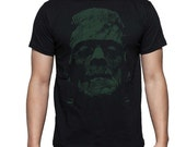 Frankenstein's Horror Monster Mary Shelley on image of Boris Karloff T Shirt Tee FREE US SHIPPING