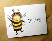 Bee Mine - friendship and love card
