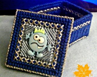 Blue Monster Trinket Box