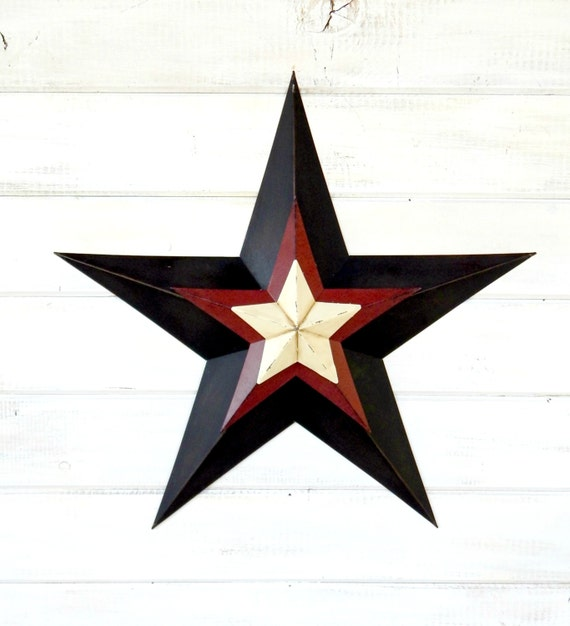 Items similar to Star Decor-Patriotic Star-Rustic Wall ...