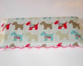 Garden Kneeler Scottie Dog and Daisy Print - Cotton and Oilcloth Foam Pad