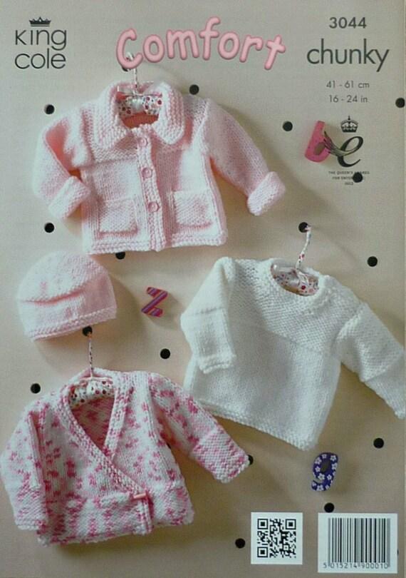 Simple Knitting Pattern Toddler Jumper : Baby Knitting Pattern K3044 Babies Easy Knit Cardigans Jumper