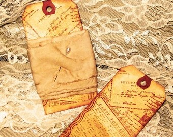 Muslin Ribbon Hand Dyed, Tea Stained and Distressed Ribbon Paris Market