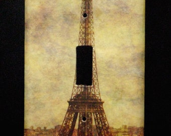 Single Switchplate Cover - View Over Paris