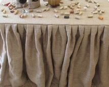 Unique Burlap Table Cloth Related Items Etsy
