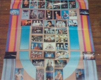 Vintage Top 50 Poster of Music Artist Classic Rock Heavy Metal Record Shop Poster Original January 1984