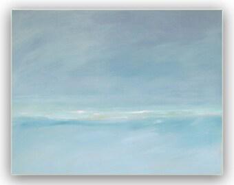 "Painting Acrylic Original, Soft Sea Breezes, Abstract Seascape, 24"" x 30"""