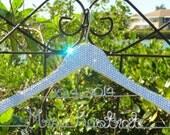Wedding Dress Hanger, Swarovski Crystal Embellished Personalized Hanger, Bride Hanger, Wedding Gift, Shower Gift