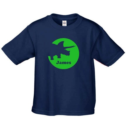 Personalized Dinosaur T Shirt For Kids Featuring Triceratops