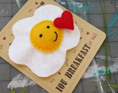 Breakfast in Bed Love Card, Plushie