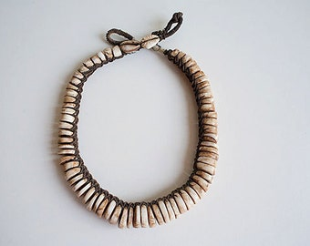 Conus Shell Necklace from Papua New Guinea Ethnic Artifact Mid 20th Century