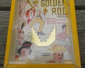 RESERVED for SHERI   R. Journet & Co. Golden Rod hand held puzzle game