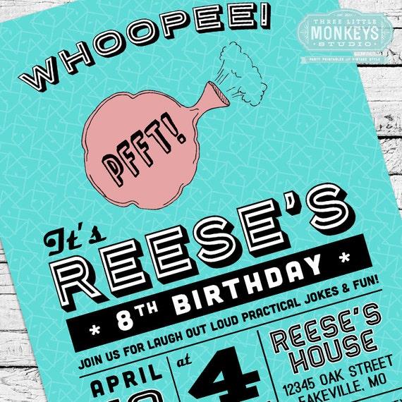 Retro practical joke gag or april fools birthday party invitation il570xn stopboris Choice Image