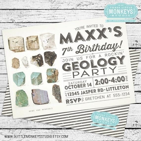 il_570xN.660565662_mbhc geology invitation,Geology Birthday Party Invitations