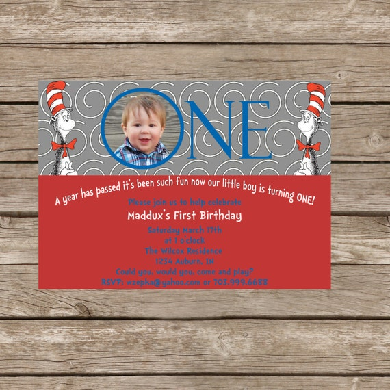 Dr. Seuss Birthday Invite