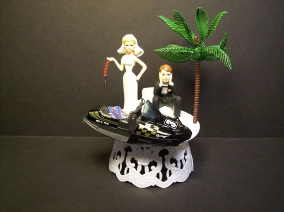 water ski wedding cake topper items similar to jet ski wedding cake topper w die cast 21682