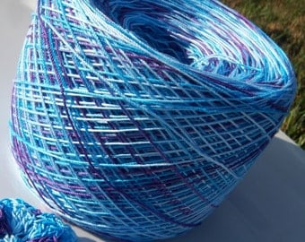 Size 10 -  Hand Dyed - Crochet Cotton - Under the Sea - Large Project Size - 150, 200, 250 or 300 Yards