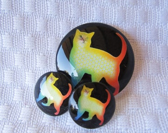 Cat Pendant and earring cabochons for jewelry making
