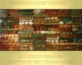 ORIGINAL PAINTING 24x48 Abstract  Impasto Modern Art  By Thomas John