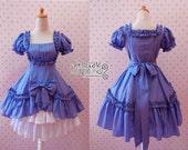 Classic Lolita Drapery Dress Ruffle Tiered Pretty Bow