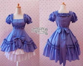 Classic Lolita Drapery Dress Ruffle Tiered Pretty Bow