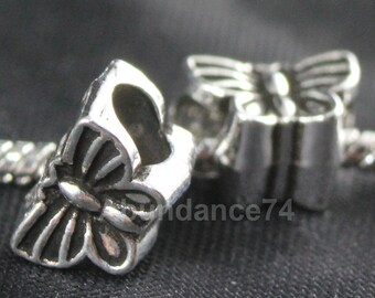 1 piece 925 Sterling Silver Thick Butterfly European Bead Charm / Spacer -  3g, 12mm EB0147