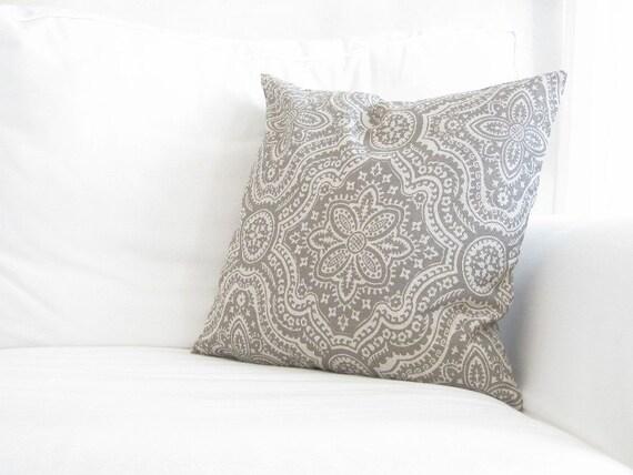 Decorative PillowsMedallion Pillow Taupe Grey by FineFreshDesign