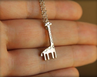 Giraffe Necklace, Available in Silver or Gold