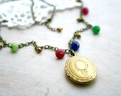 Christmas gift. Gold Locket Necklace. Vntage pendant antique gold. Locket vintage look. Ready to ship. Christmas gift. Unique necklace